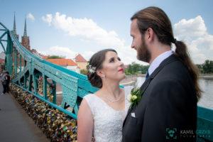 Fotografia ślubna Wrocław - sesja plenerowa Darii i Łukasza - kgfotografia.pl